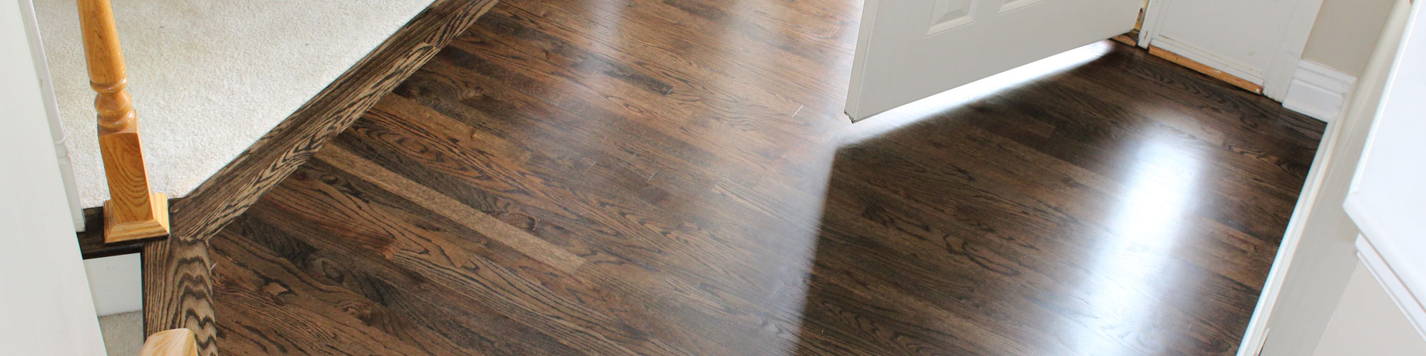 hardwood floor refinishing dark stain