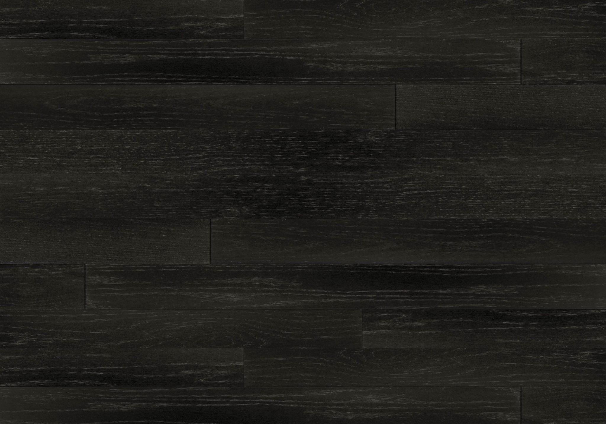 Black hardwood flooring