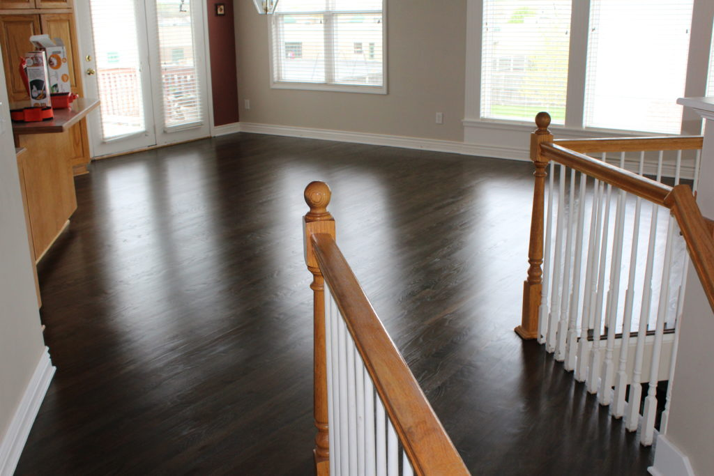 Black Stained Hardwoods Kansas City Hardwood Floor